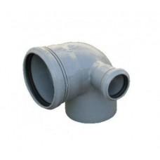 Канализационный отвод правый 90° 110-110-50 мм