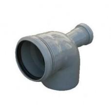 Канализационный отвод задний 90° 110-110-50 мм