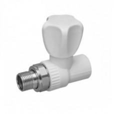 Полипропиленовый кран шаровой для радиатора