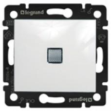Выключатель одноклавишный LEGRAND с подсветкой белый