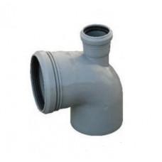 Канализационный отвод верхний 90° 110-110-50 мм