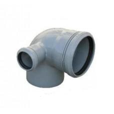 Канализационный отвод левый 90° 110-110-50 мм
