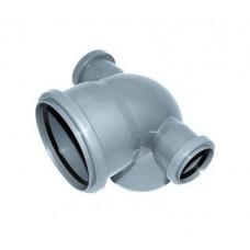 Канализационный отвод с двумя выходами 90° 110-110-50-50